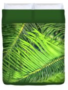 Palms In Light And Shadow Duvet Cover