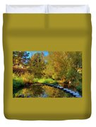 Palouse River Reflections Duvet Cover