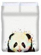 Panda Watercolor Duvet Cover