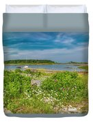 Paradise In Maine Duvet Cover