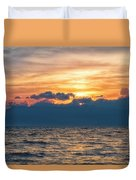 Paradise Sunset Duvet Cover by Russell Pugh