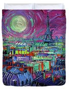 Paris By Moonlight Duvet Cover