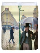 Paris Street In Rainy Weather - Digital Remastered Edition Duvet Cover