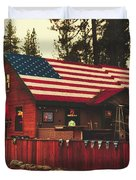 Patriotic Bar And Grill Duvet Cover