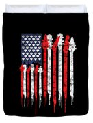 Patriotic Guitar Flag America Lovers Guitar Music Lovers Gifts Duvet Cover