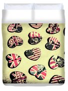 Patriotic Picks Duvet Cover