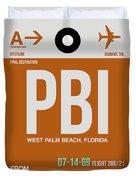 Pbi West Palm Beach Luggage Tag II Duvet Cover