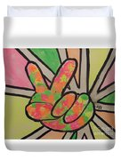 Peace Sign Duvet Cover by Saundra Johnson