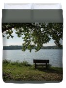 Peaceful Bench Duvet Cover