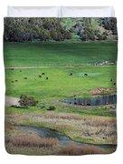 Peaceful Farm In Durango Duvet Cover