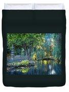 Peaceful Oasis - Japanese Garden Lake Duvet Cover