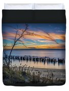 Peaceful Sunset At Sandy Hook Duvet Cover
