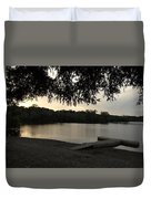 Peaceful Sunset At The Park Duvet Cover