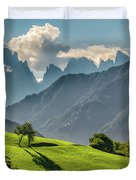Peak And Meadow Duvet Cover by James Billings