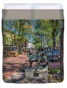 Pearl Street Mall Duvet Cover