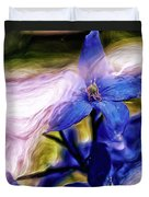 Peek A Blue Duvet Cover