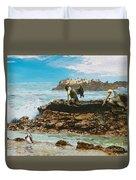 Pelicans At Laguna Beach 3 Duvet Cover