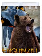 Penguinzilla Duvet Cover by ISAW Company