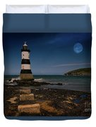 Penmon Lighthouse And Puffin Island Duvet Cover