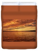 Percy Priest Lake Sunset Duvet Cover