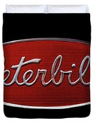 Peterbilt Emblem Black Duvet Cover