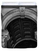 Philadelphia City Hall Fresco In Black And White Duvet Cover