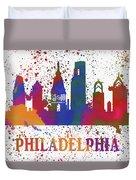 Philly Color Splash Duvet Cover