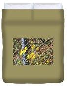 Phoenix Arizona Papago Park Blue Sky Red Rocks Scrub Vegetation Yellow Flowers 3182019 5327 Duvet Cover