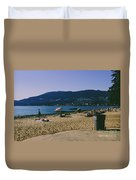 photograph of thid beach which is located in Stanley Park Vancouver. Third beach is a popular location for tourists and locals alike. Duvet Cover