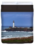 Pigeon Point Light Station In San Mateo County Ca Duvet Cover