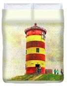 Pilsum Lighthouse Leuchtturm  Duvet Cover