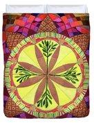 Pine Cone Mandala Duvet Cover