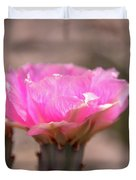 Pink Cactus Bloom Duvet Cover