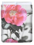 Pink Camellia. Shabby Chic Collection Duvet Cover