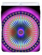 Pink Circus Sun  Duvet Cover by Visual Artist Frank Bonilla
