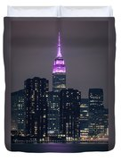 Pink Empire State Building Duvet Cover