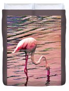Pink Flamingo Two Duvet Cover