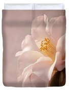 Pink Japanese Camellia Duvet Cover by Mary Jo Allen