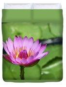 Pink Lotus Water Flower Duvet Cover