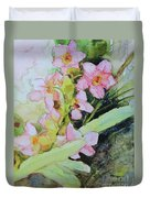 Pink Moth Orchids II Duvet Cover