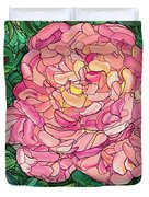 Pink Rose Duvet Cover by James W Johnson