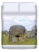 Plain Of Jars Duvet Cover