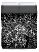 Plant Black And White Abstract Duvet Cover
