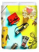 Play On Pop Art Duvet Cover