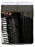 Play The Accordion Duvet Cover