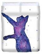Playful Galactic Cat Duvet Cover