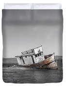 Point Reyes California Shipwreck Duvet Cover