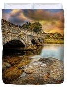 Pont Pen-y-llyn Bridge Snowdonia Duvet Cover