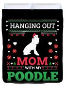 Poodle Ugly Christmas Sweater Xmas Gift Duvet Cover