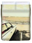 Pop Art Beach Carpark  Duvet Cover